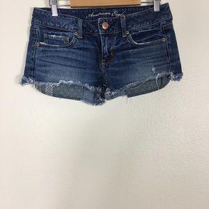 American Eagle Cut Off Jean Shortie Shorts